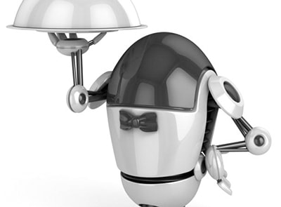THIS IS WHERE IT ALL STARTS, ROBOTS AS WAITERS!