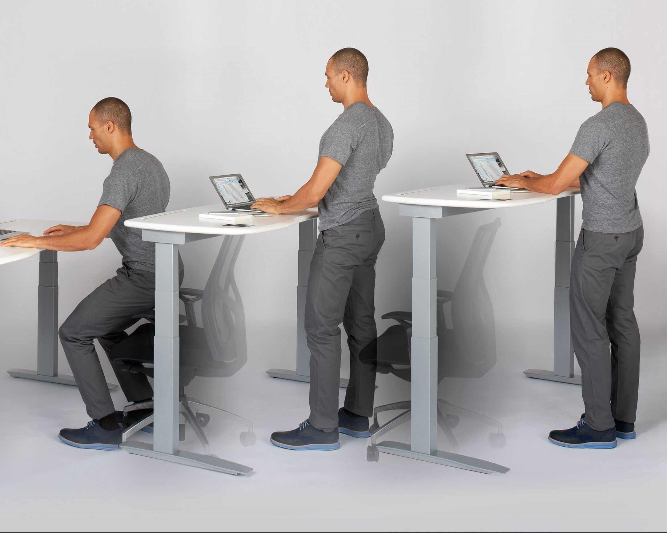 STANDING IS THE NEW SITTING AT THE APPLE PARK
