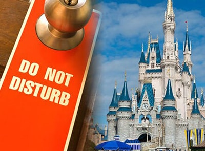 NO MORE 'DO NOT DISTURB' SIGNS IN DISNEY HOTELS!