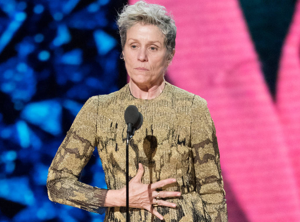 AND THE OSCAR GOES TO FRANCES McDORMAND FOR INCLUSION RIDER