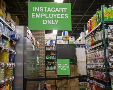 Instacart workers strike for better COVID-19 protection!