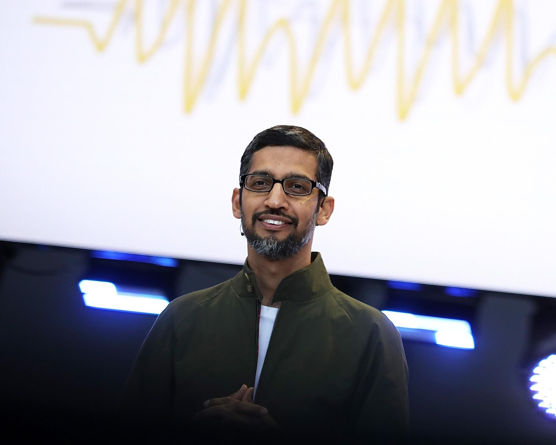 SUNDAR PICHAI'S MAY NEED A GOOGLE SEARCH FOR INSPIRATIONAL VISION