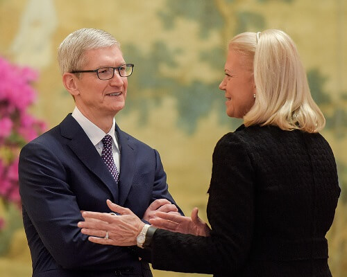 GINNI ROMETTY AND TIM COOK IN THE ADVISORY BOARD OF DONALD TRUMP'S PANEL FOR AI AND AUTOMATION