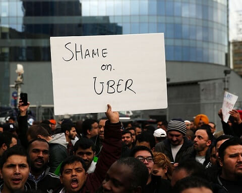 DISCONTENT UBER DRIVERS WARN A 12-HOUR SHUTDOWN