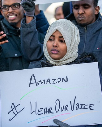 AMAZON WORKERS PLAN TO STRIKE