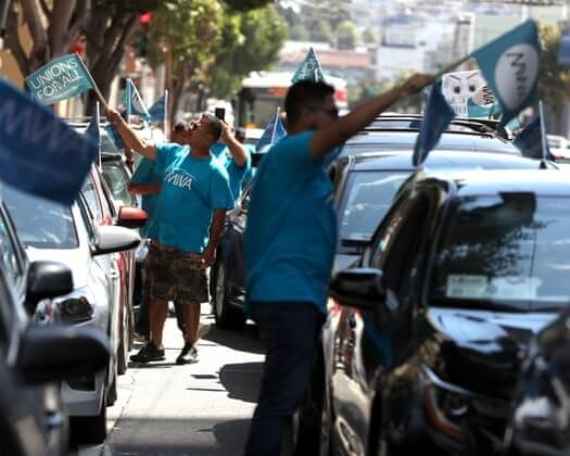 UBER AND LYFT DRIVERS RALLY FOR BILL