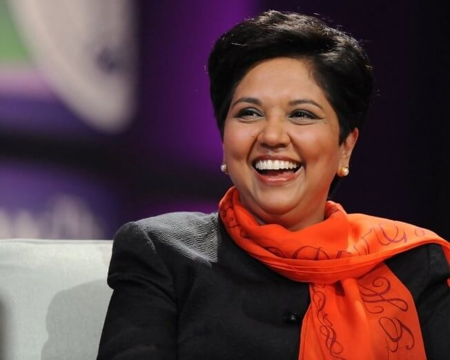 INDRA NOOYI ENCOURAGES WOMEN TO BREAK BARRIERS